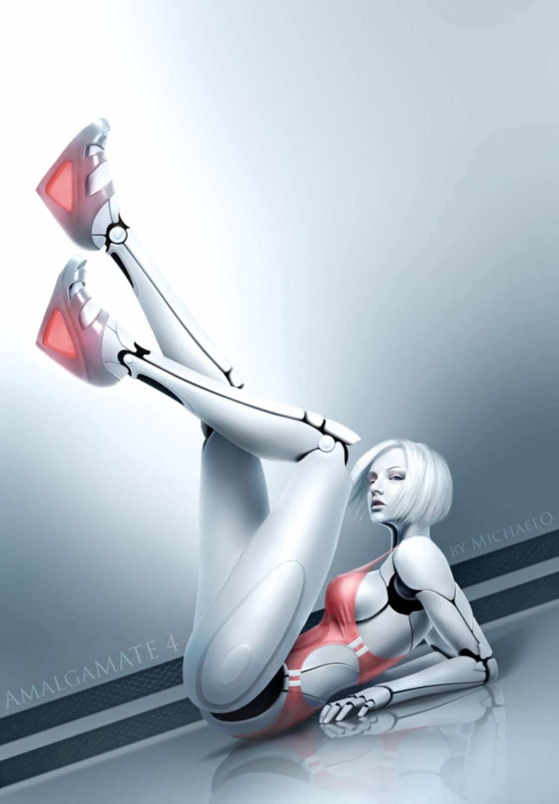 Секс девушка робот 15 фотография